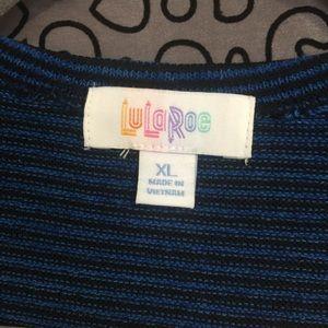 LuLaRoe Sweaters - LulaRoe Navy Blue - Black striped duster
